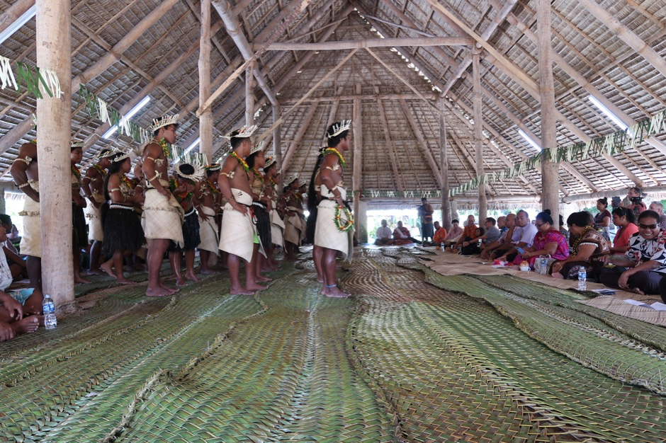 International Museum Day 2017 dance performance for invited guests at Te Umwanibong, Kiribati Museum and Cultural Centre