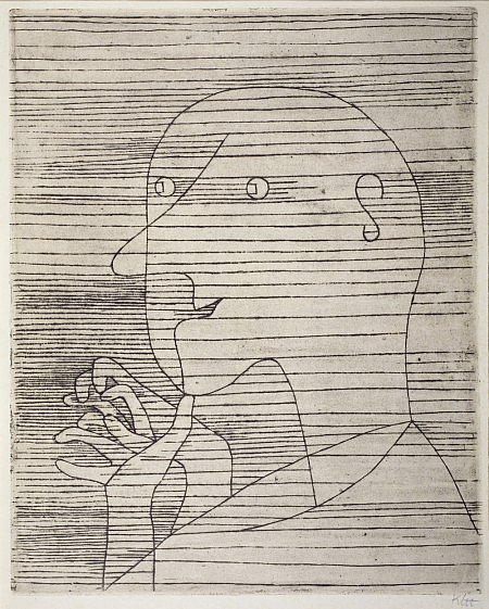 Paul Klee, 'Rechnender Greis' ('Old Man Calculating'), Scottish National Gallery of Modern Art