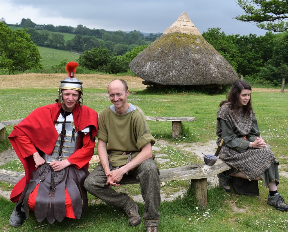 Roman encounter with the locals at Castell Henllys Iron Age settlement, Pembrokeshire. Not everyone is glad to see them!