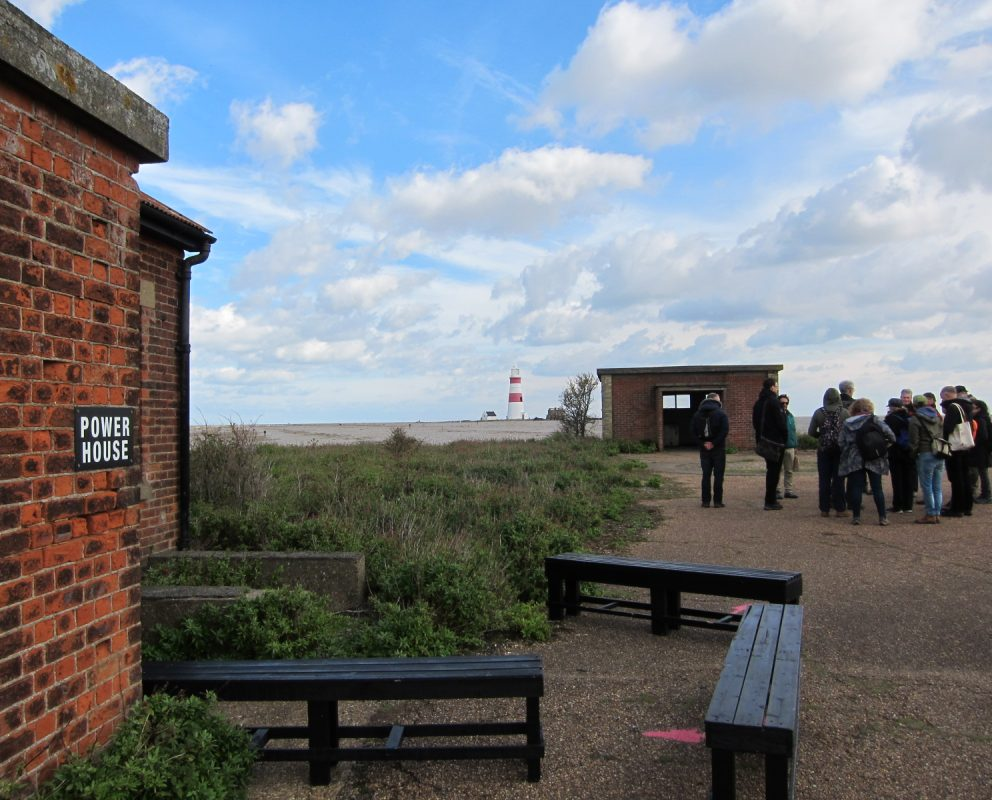 Participants visiting Orford Ness.